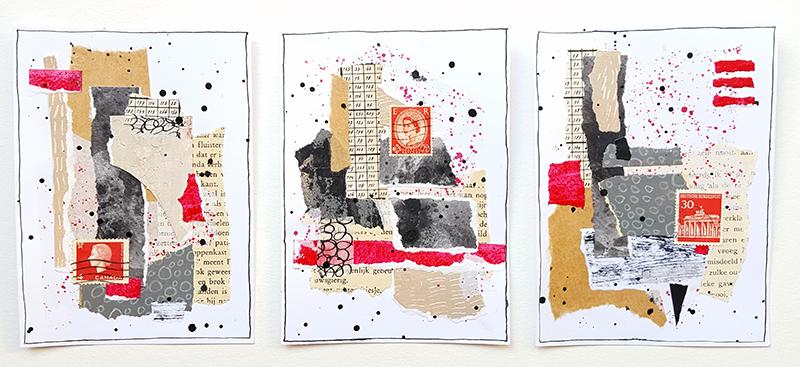 Collage drieluik